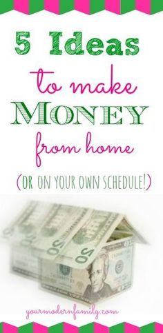 Video on 5 easy ways to make money either from your home or on your own…