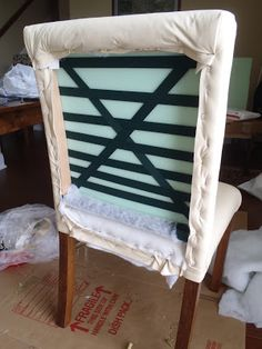 Lazy Liz on Less: How to build and upholster dinning chairs