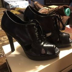 Michael Antonio Booties Michael Antonio Booties black patent leather size 8.5 Michael Antonio Shoes Ankle Boots & Booties