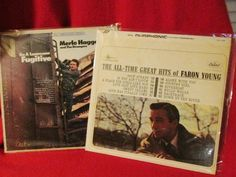 """Two Vintage Country Western LPs """"Faron Young"""" and """"Merle Haggard"""""""" by trackerjax on Etsy Used Vinyl, Vintage Country, Greatest Hits, Lps, All About Time, Westerns, Handmade Gifts, Kid Craft Gifts, Craft Gifts"""