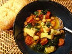 Slow Cooker Chickpea, Chorizo and Fish Soup
