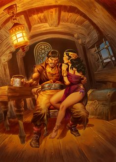 PIRATE AND WENCH-color by ~benitogallego on deviantART