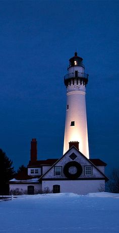 Wind Point lighthouse, Milwaukee, USA