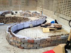 Terrific photo-detailed post on building a roof-top GABION - A gabion is, in its simplest form, a rock structure. Sometimes  contained in metal (or historically, woven) baskets to keep it all in place.