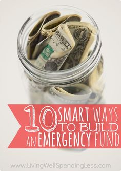Want to save money or pay off debt, but aren't sure where to start?  Don't miss these 10 super smart ways to build an emergency fund fast, plus a ton of awesome tips & ideas from LWSL readers!