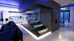 Iluminación moderna para escaleras #lighting