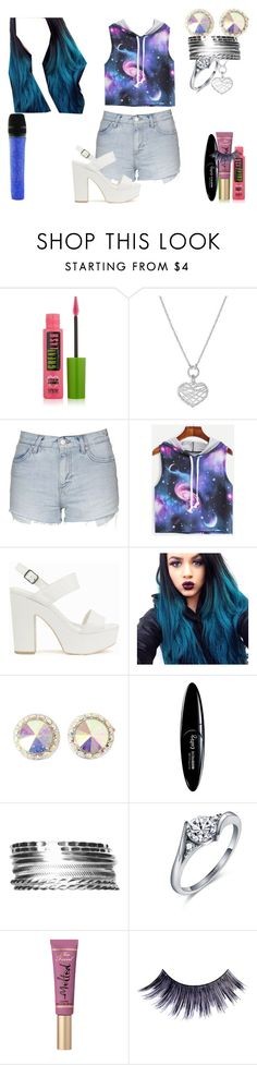 """""""Lillian Lockstar In """"Honey Summer"""""""" by shestheman01 on Polyvore featuring Maybelline, Links of London, Topshop, Nly Shoes, Swarovski, Kim Rogers and Manic Panic NYC"""