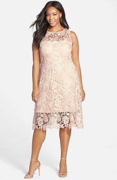 Free shipping and returns on Julia Jordan Sleeveless Lace Sheath Dress (Plus Size) at Nordstrom.com. A gorgeous botanical motif patterns the blushing lace of a sleeveless sheath nipped with an inset waist for hourglass-shaping flattery. The yokes and hem are left sheer for sweet peekaboo contrast.