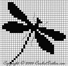 dragonfly for crochet...or even weaving a carpet!
