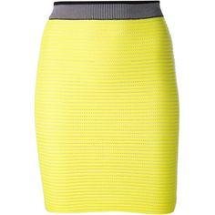 Alexander Wang cycling mini skirt (1,004 CAD) ❤ liked on Polyvore
