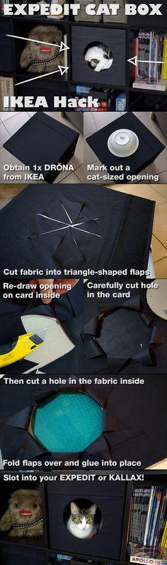 EXPEDIT Cat Box IKEA Hack More