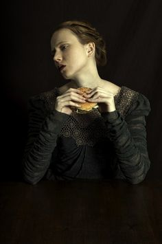 Romina Ressia Photography Love this series, but her cheese burger crackin' me up!