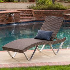 Manuela Outdoor Multibrown Wicker Chaise Lounge Chairs (Set of 2)