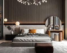 Modern Luxury Bedroom, Master Bedroom Interior, Modern Bedroom Design, Home Room Design, Luxury Interior Design, Luxurious Bedrooms, Home Bedroom, Behance, Bedhead
