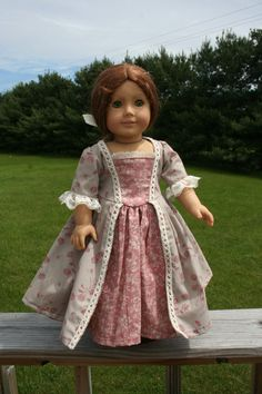 Colonial Revolutionary War Gown For American Girl by FaesLilDreams