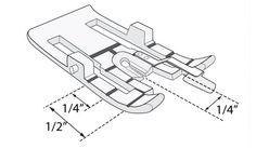 "Changeable 1/4"" Guide Foot - HUSQVARNA VIKING®"