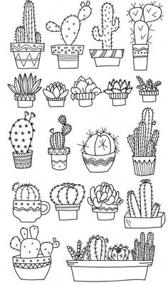 Doodle art 712061391074936985 - Bullet journal doodles Doodle drawings Cactuses doodle Gri Source by Bullet Journal Ideas Pages, Bullet Journal Inspiration, Bullet Journals, Doodle Inspiration, Design Inspiration, Doodle Drawings, Easy Drawings, Tattoo Drawings, Flower Drawings