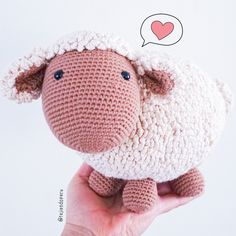 Amigurumi BIG sheep step by step 🧶 / Tejiendo Peru Easter Crochet, Cute Crochet, Crochet Toys, Beginner Crochet Projects, Crochet For Beginners, Doll Toys, Dolls, I Love You Images, Barbie Dress