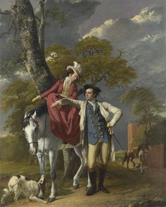 Joseph Wright of Derby: Mr. and Mrs. Thomas Coltman, c.1770.