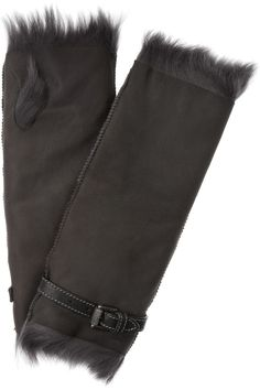 05754ede2913 Fingerless shearling and leather gloves by Karl Donoghue Be Bold