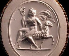 Hermes seated on Ram - from collection Poniatowski, London