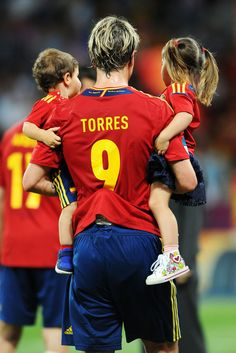 Fernando Torres and Nora Torres - Spain v Italy - UEFA EURO 2012 Final