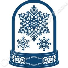 Tattered Lace Snow Globe Card Shape Die