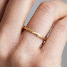 D-Shape Wheat Sheaf Engraved Ethical Wedding Ring. White Gold 2mm