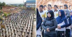 Pulau Batam, Kepri: Sekitar 800 Siswa-Siswi SMK Negeri 7 Batam Mempelajari Latihan Falun Dafa