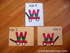 week crafts for preschoolers: w is for watermelon #letteroftheweek #crystalandcomp