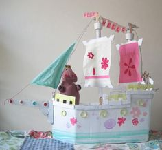 Rainy Day Cardboard Craft Ideas for Kids | Make a cardboard box castle or whatever else you can imagine (from cardboard!).