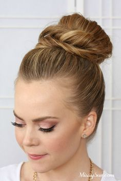 Today I am featuring a cute double bun hairstyle that would be perfect for a night out or to a school dance! Head over to Latest-Hairstyles.com to watch the tutorial! See the tutorial on Pinterest! Follow Melissa Cook (Missy Sue Blog)'s board Hair Tutorials on Pinterest.
