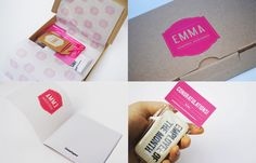 Self promotion through a branding box. A unique way of displaying your skills and cv through creativity. - Inspiration for personal branding.