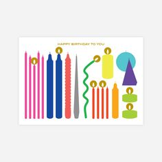 Birthday Card with Candle light sticker : 웬아이워즈영 | wheniwasyoung - 디자인문구 브랜드 홈페이지 Book Design, Layout Design, Print Design, Graphic Illustration, Graphic Art, Graphic Design, Poster Fonts, Flower Logo, Art Graphique