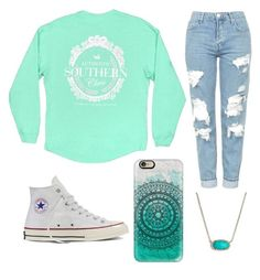 """""""Teal"""" by egloomis on Polyvore featuring Topshop, Converse, Casetify and Kendra Scott"""