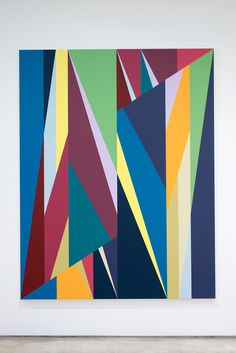 """Odili Donald Odita, """"Other World"""" (2015), acrylic on canvas, 90 x 70 inches (click to enlarge)"""