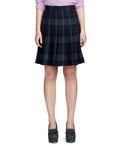 Wool Pleated Skirt - Brooks Brothers