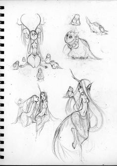Sketches - Fawns by sambees on DeviantArt