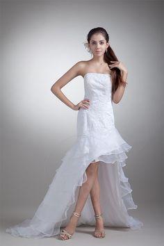 Robe de mariée vie avec zip manche nulle de traîne moyenne avec gradins