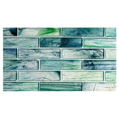"""Complete Tile Collection Zumi Glass Mosaic - Sapphire Oasis - Natural, 1-3/8"""" x 5-3/4""""  Large Brick  Recycled Glass Mosaic, MI#: 038-G2-263-406, Color: Sapphire Oasis"""