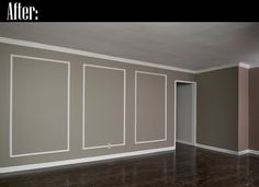 Wall Molding Ideas | ... wall on the right is the one that now has the picture frame molding