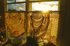 Vintage Lace Curtain by Cute Cottage Overload, via Flickr