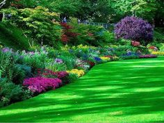 Garden Landscaping 47 Stunning Border Flower Garden Ideas, You Must Try to Impressive Your Garden - This gardening by planting some flowers as a border planter Beautiful Landscapes, Beautiful Gardens, Beautiful Flowers, Beautiful Park, Dead Gorgeous, Garden Cottage, Home And Garden, Cozy Cottage, Garden Wallpaper