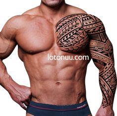 samoan tattoos design lion on paper Tribal Shoulder Tattoos, Tribal Tattoos For Men, Tribal Sleeve Tattoos, Tattoos For Guys, Cute Tiny Tattoos, Badass Tattoos, Body Art Tattoos, Kurt Tattoo, Sexy Tattooed Men