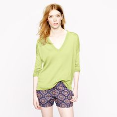 J. Crew Slouchy Boyfriend Sweater. $88 + 25% off Code: SPRINGBEST. Did I mention you can monogram it? #prep