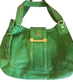 L.A.M.B. Leather Shoulder Hobo Bag