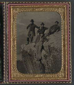[Private Henry McCollum of Company B, 78th Pennsylvania Infantry Regiment and three unidentified soldiers in 78th Pennsylvania Infantry uniforms at Point Lookout, Tennessee] (LOC) by The Library of Congress, via Flickr