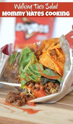 Recipe - Walking Taco Salad {Easy Dinner Night}