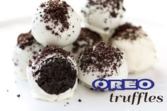 Cooking Classy: Oreo Truffles Two Ways  Oreo Truffles  Yields 36     Ingredients:  39 Oreos, divided (Orignal NOT Doublestuff. This is one entire 15.5 oz pkg)  1 (8 oz) pkg cream cheese, softened  16 oz. white chocolate almond bark
