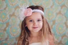 Hair accessory for Baby Girl, Newborn Infant Baby Toddler Headbands, Easter Headbands, Pink Baby Bow. $11.95, via Etsy.
